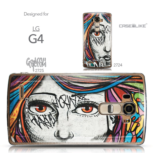 Collection - CASEiLIKE LG G4 back cover Graffiti Girl 2725