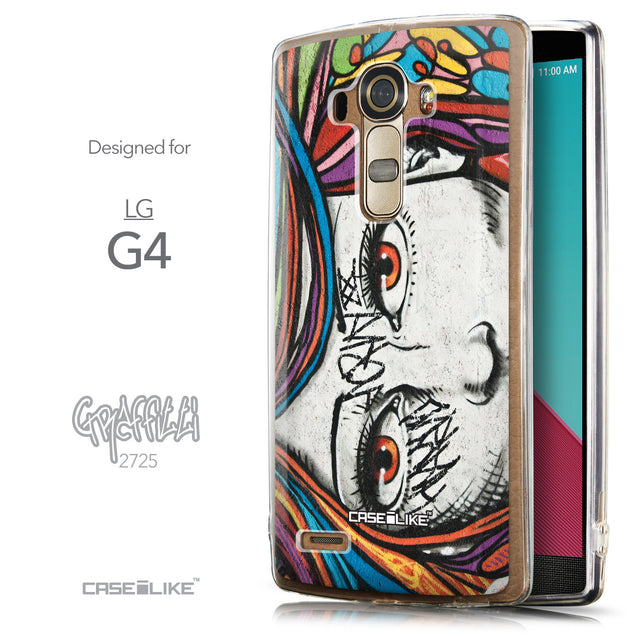 Front & Side View - CASEiLIKE LG G4 back cover Graffiti Girl 2725