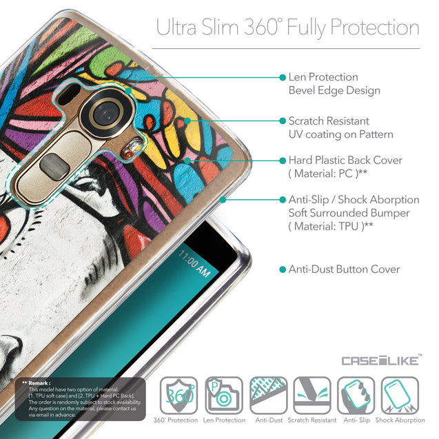 Details in English - CASEiLIKE LG G4 back cover Graffiti Girl 2725