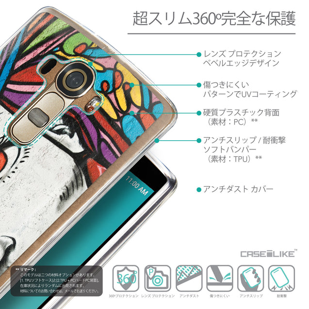 Details in Japanese - CASEiLIKE LG G4 back cover Graffiti Girl 2725