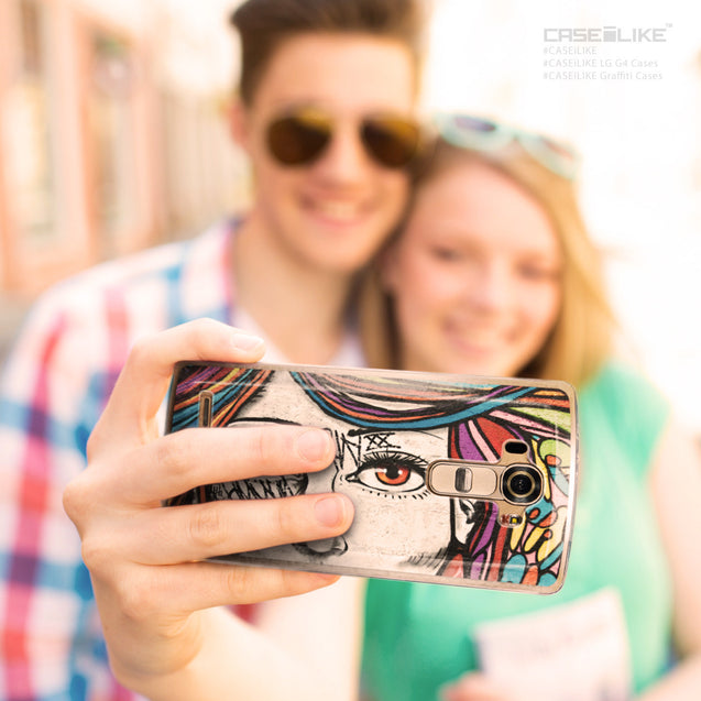 Share - CASEiLIKE LG G4 back cover Graffiti Girl 2725