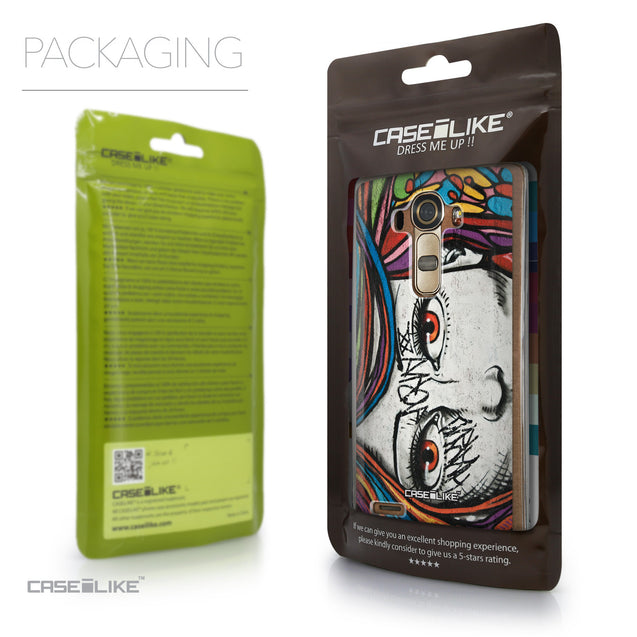 Packaging - CASEiLIKE LG G4 back cover Graffiti Girl 2725