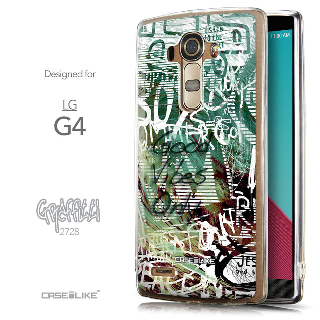 Front & Side View - CASEiLIKE LG G4 back cover Graffiti 2728