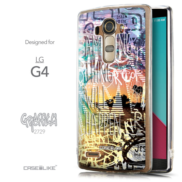 Front & Side View - CASEiLIKE LG G4 back cover Graffiti 2729