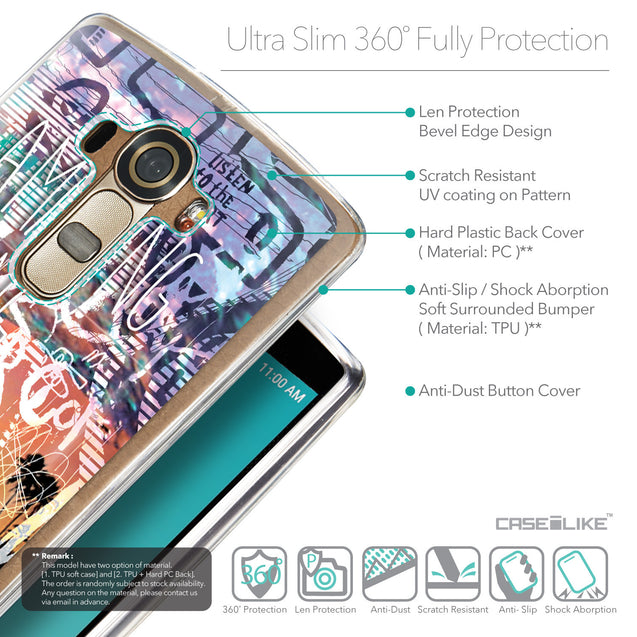 Details in English - CASEiLIKE LG G4 back cover Graffiti 2729