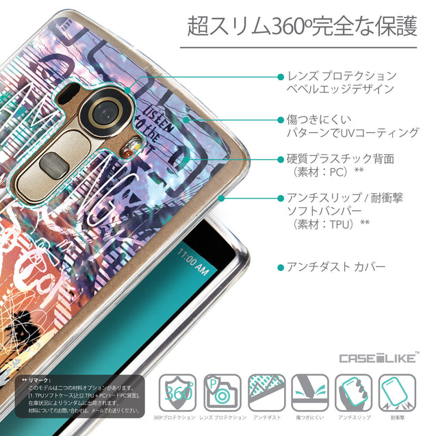 Details in Japanese - CASEiLIKE LG G4 back cover Graffiti 2729