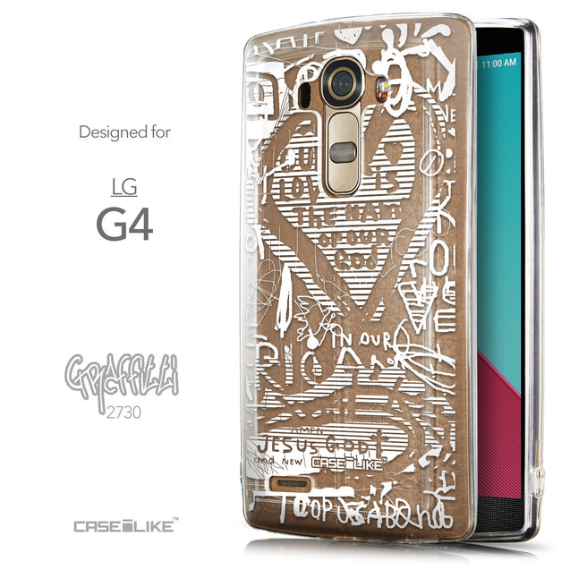 Front & Side View - CASEiLIKE LG G4 back cover Graffiti 2730