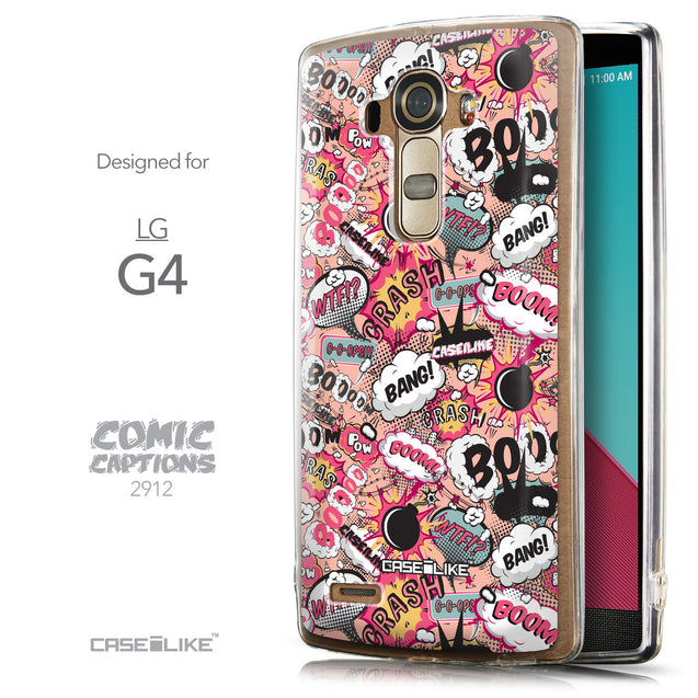 Front & Side View - CASEiLIKE LG G4 back cover Comic Captions Pink 2912