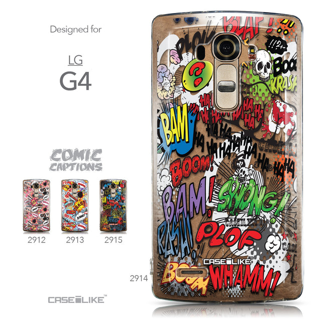 Collection - CASEiLIKE LG G4 back cover Comic Captions 2914