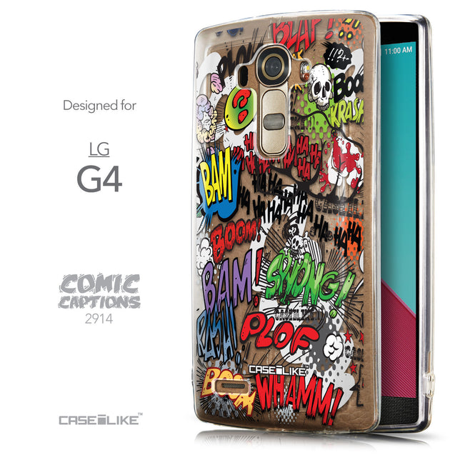 Front & Side View - CASEiLIKE LG G4 back cover Comic Captions 2914