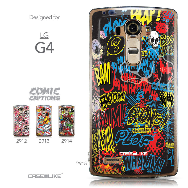 Collection - CASEiLIKE LG G4 back cover Comic Captions Black 2915