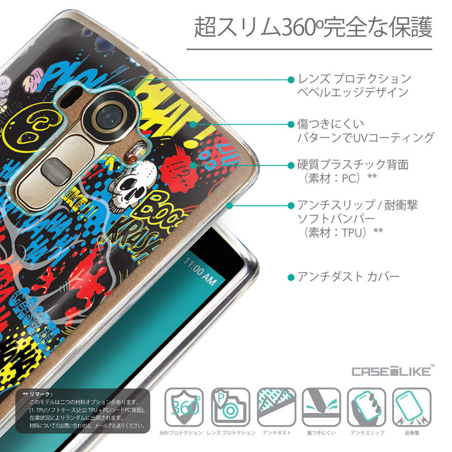 Details in Japanese - CASEiLIKE LG G4 back cover Comic Captions Black 2915