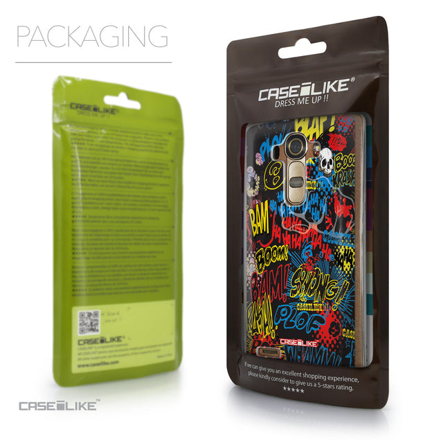 Packaging - CASEiLIKE LG G4 back cover Comic Captions Black 2915