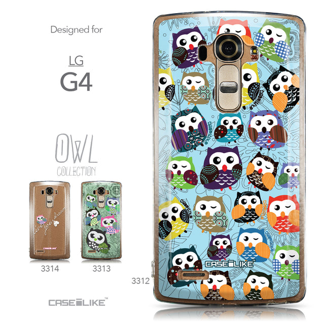 Collection - CASEiLIKE LG G4 back cover Owl Graphic Design 3312