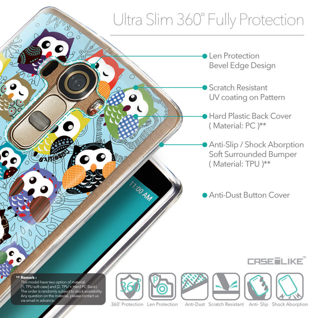 Details in English - CASEiLIKE LG G4 back cover Owl Graphic Design 3312