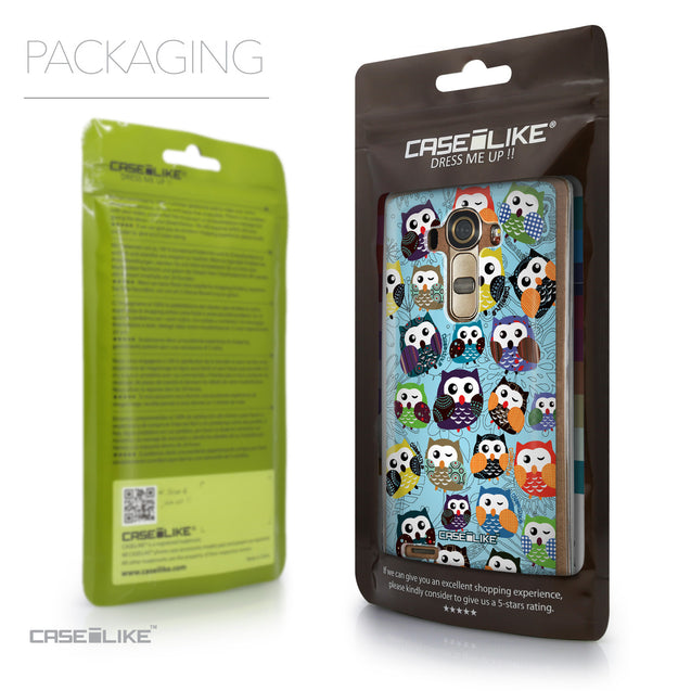 Packaging - CASEiLIKE LG G4 back cover Owl Graphic Design 3312
