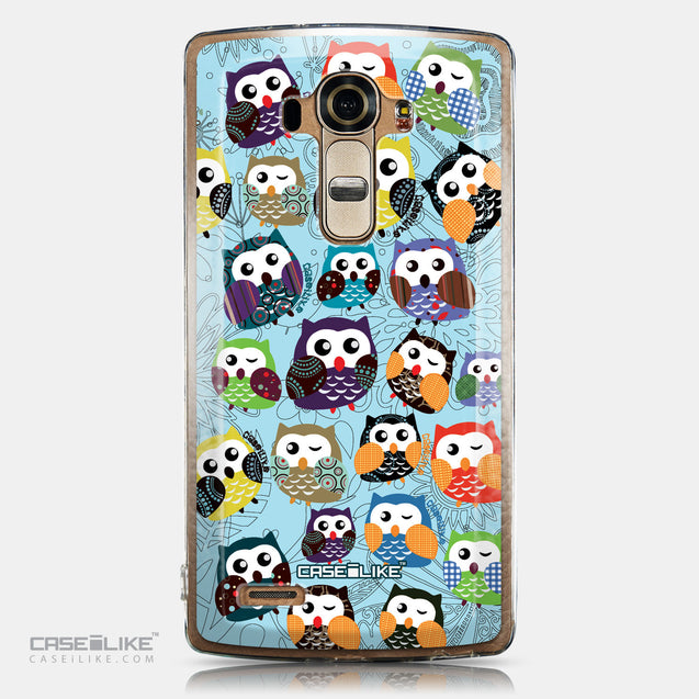 CASEiLIKE LG G4 back cover Owl Graphic Design 3312