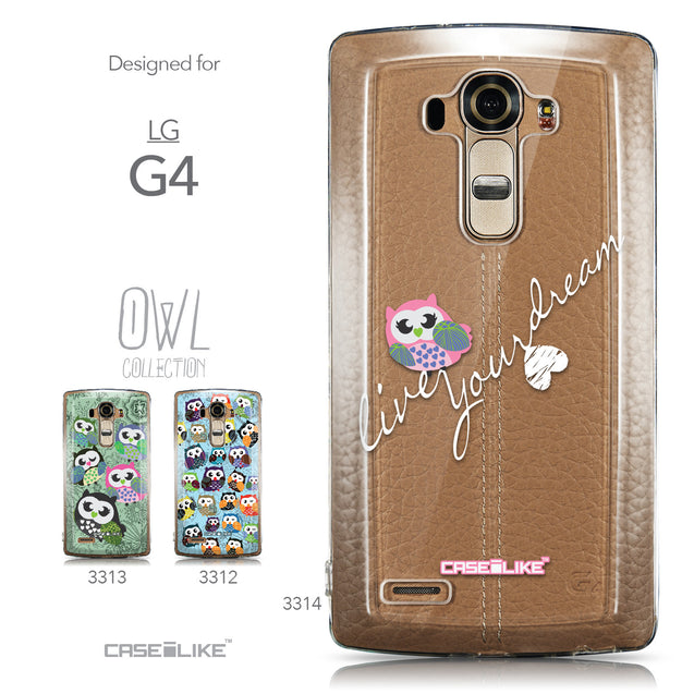 Collection - CASEiLIKE LG G4 back cover Owl Graphic Design 3314