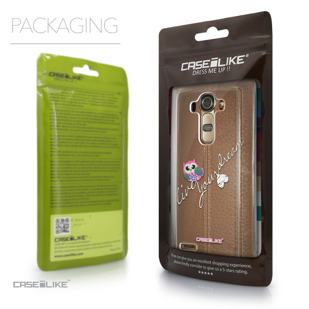 Packaging - CASEiLIKE LG G4 back cover Owl Graphic Design 3314
