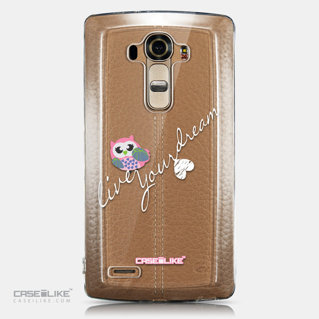 CASEiLIKE LG G4 back cover Owl Graphic Design 3314