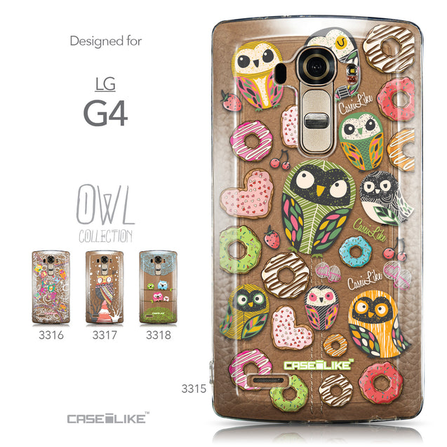 Collection - CASEiLIKE LG G4 back cover Owl Graphic Design 3315