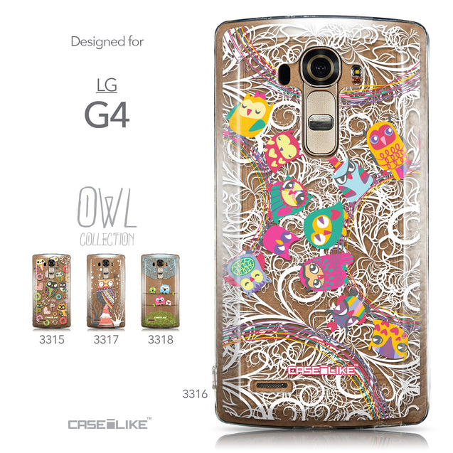 Collection - CASEiLIKE LG G4 back cover Owl Graphic Design 3316