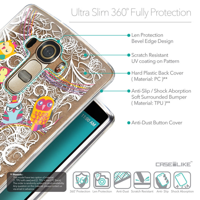 Details in English - CASEiLIKE LG G4 back cover Owl Graphic Design 3316