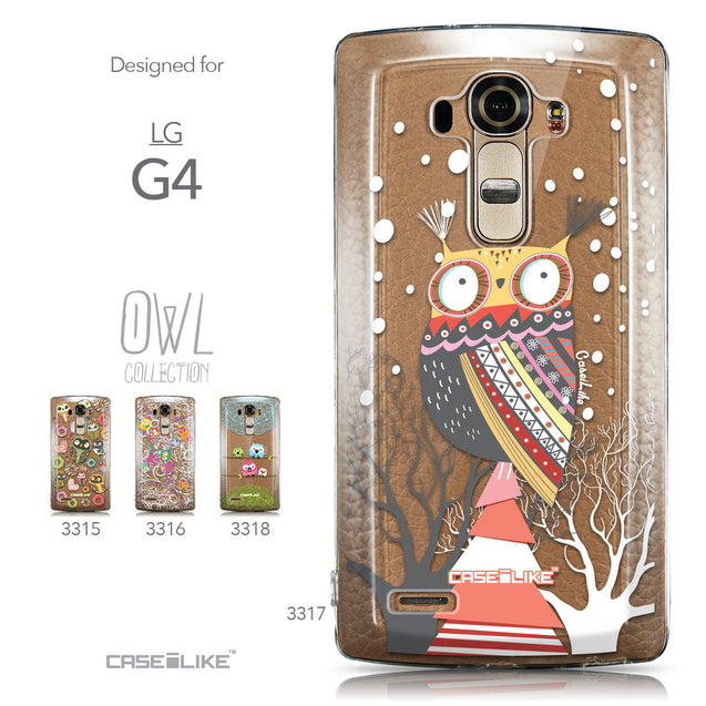 Collection - CASEiLIKE LG G4 back cover Owl Graphic Design 3317