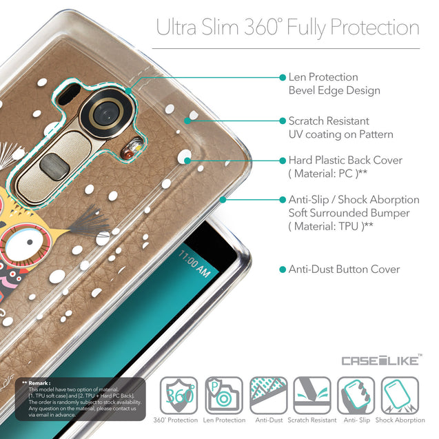 Details in English - CASEiLIKE LG G4 back cover Owl Graphic Design 3317