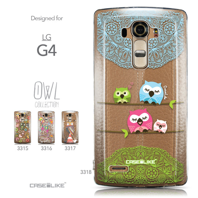 Collection - CASEiLIKE LG G4 back cover Owl Graphic Design 3318