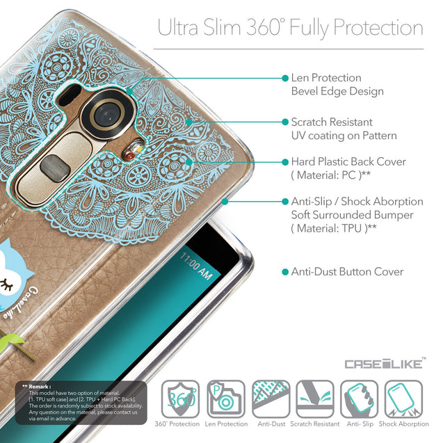 Details in English - CASEiLIKE LG G4 back cover Owl Graphic Design 3318