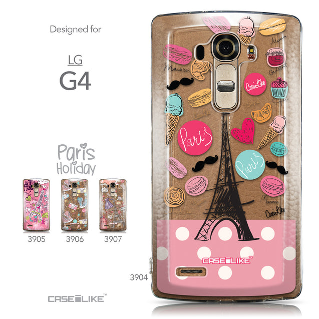 Collection - CASEiLIKE LG G4 back cover Paris Holiday 3904