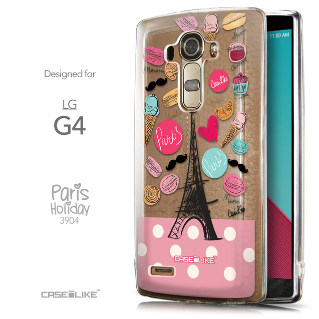 Front & Side View - CASEiLIKE LG G4 back cover Paris Holiday 3904