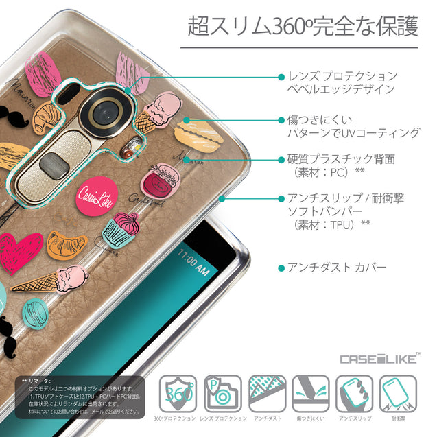 Details in Japanese - CASEiLIKE LG G4 back cover Paris Holiday 3904