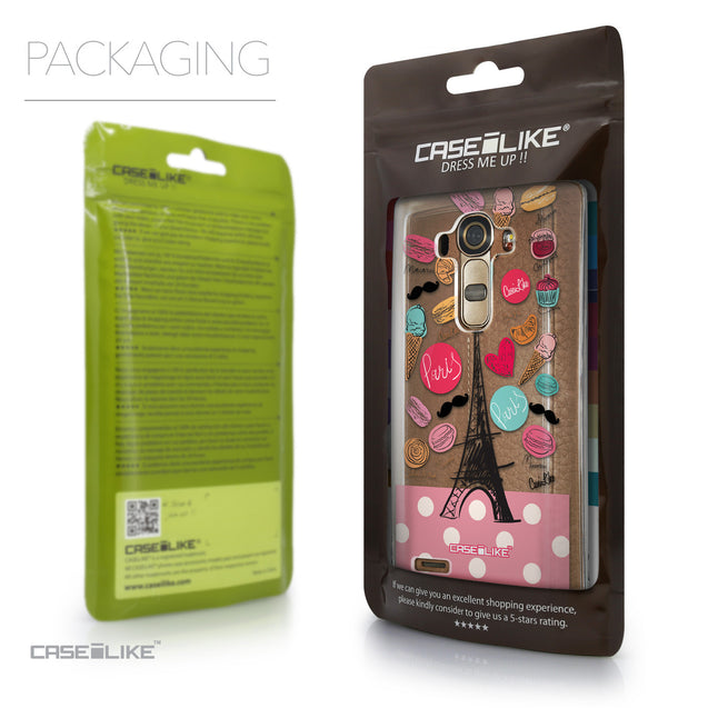 Packaging - CASEiLIKE LG G4 back cover Paris Holiday 3904