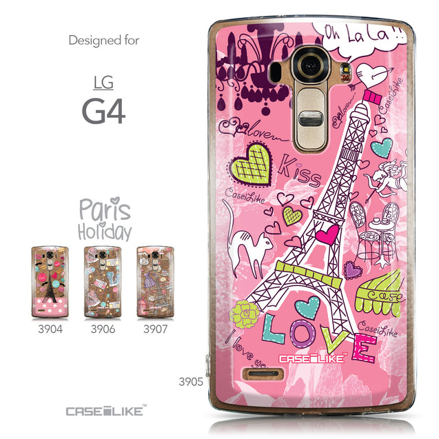 Collection - CASEiLIKE LG G4 back cover Paris Holiday 3905