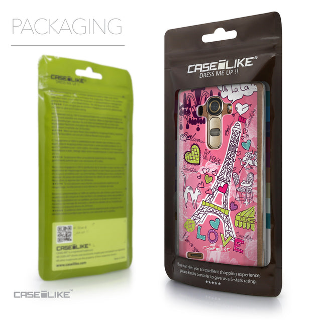 Packaging - CASEiLIKE LG G4 back cover Paris Holiday 3905
