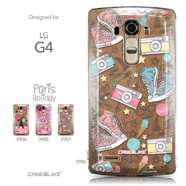 Collection - CASEiLIKE LG G4 back cover Paris Holiday 3906