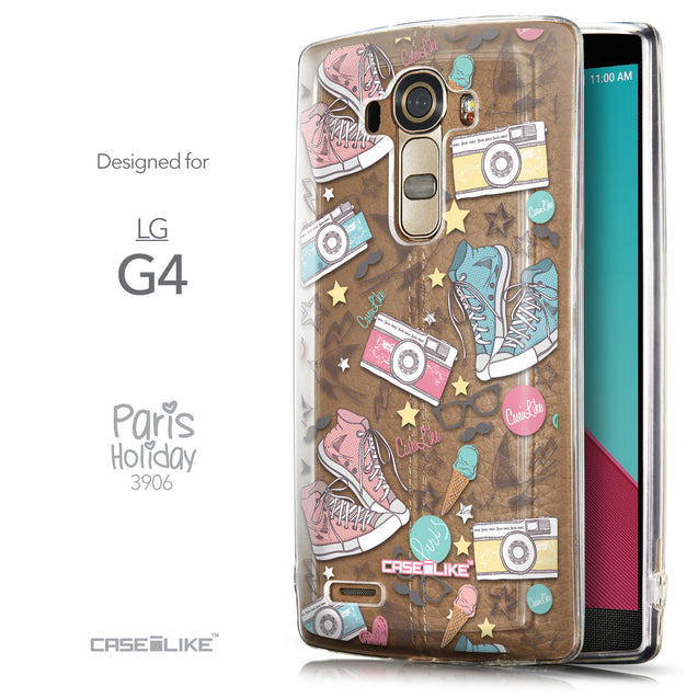 Front & Side View - CASEiLIKE LG G4 back cover Paris Holiday 3906