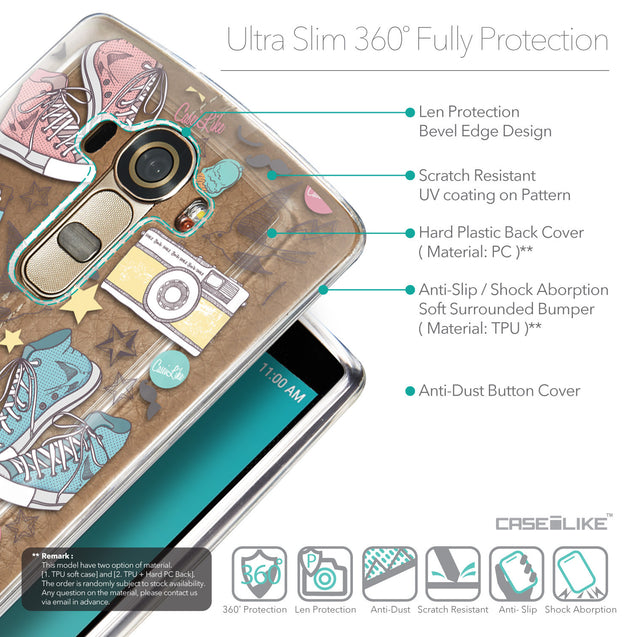 Details in English - CASEiLIKE LG G4 back cover Paris Holiday 3906