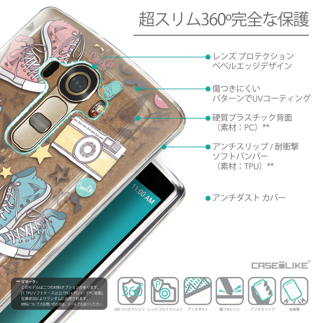 Details in Japanese - CASEiLIKE LG G4 back cover Paris Holiday 3906