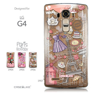 Collection - CASEiLIKE LG G4 back cover Paris Holiday 3907