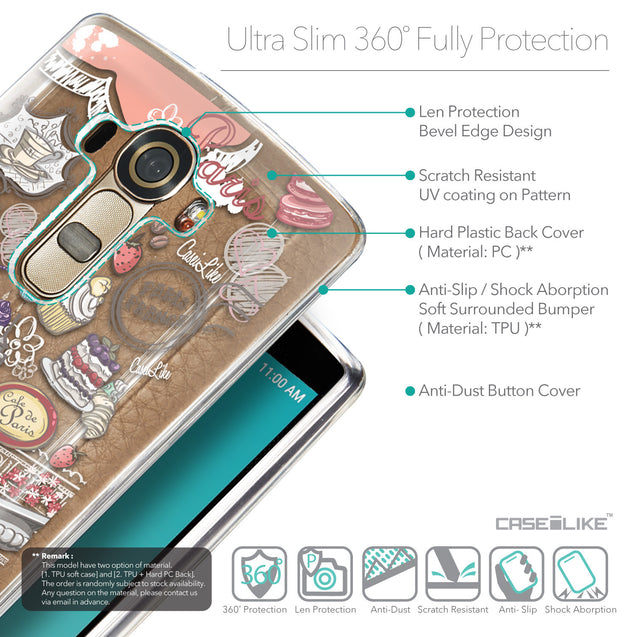 Details in English - CASEiLIKE LG G4 back cover Paris Holiday 3907