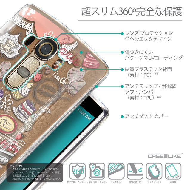 Details in Japanese - CASEiLIKE LG G4 back cover Paris Holiday 3907
