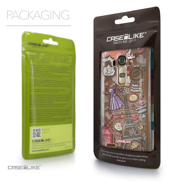 Packaging - CASEiLIKE LG G4 back cover Paris Holiday 3907