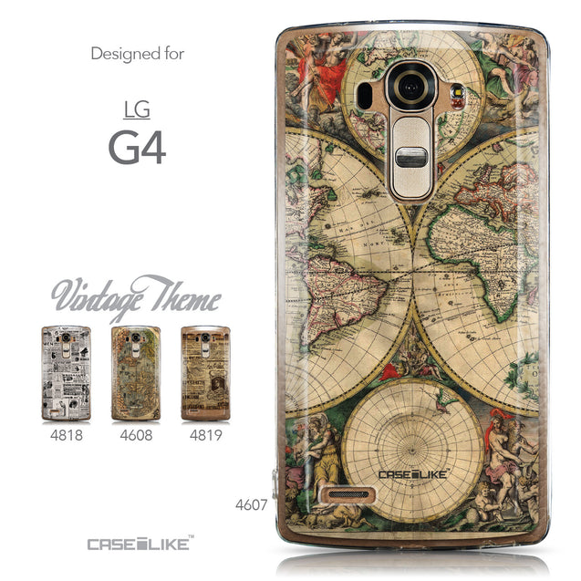 Collection - CASEiLIKE LG G4 back cover World Map Vintage 4607