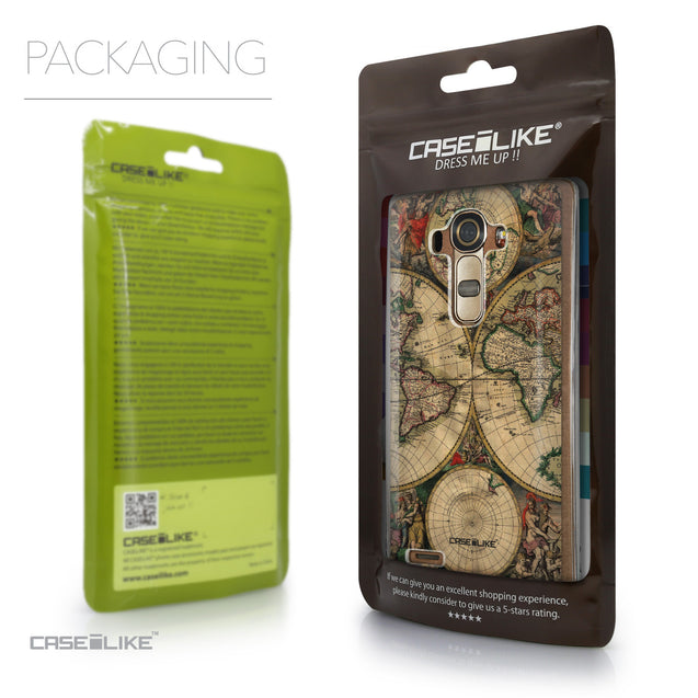 Packaging - CASEiLIKE LG G4 back cover World Map Vintage 4607