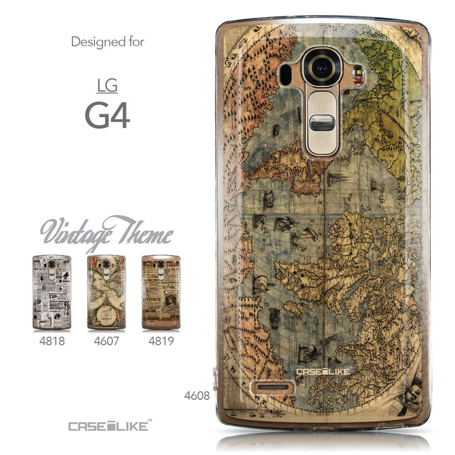 Collection - CASEiLIKE LG G4 back cover World Map Vintage 4608