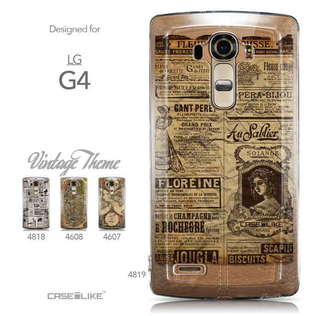 Collection - CASEiLIKE LG G4 back cover Vintage Newspaper Advertising 4819