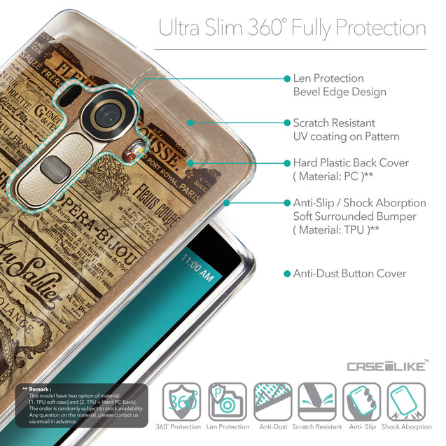 Details in English - CASEiLIKE LG G4 back cover Vintage Newspaper Advertising 4819